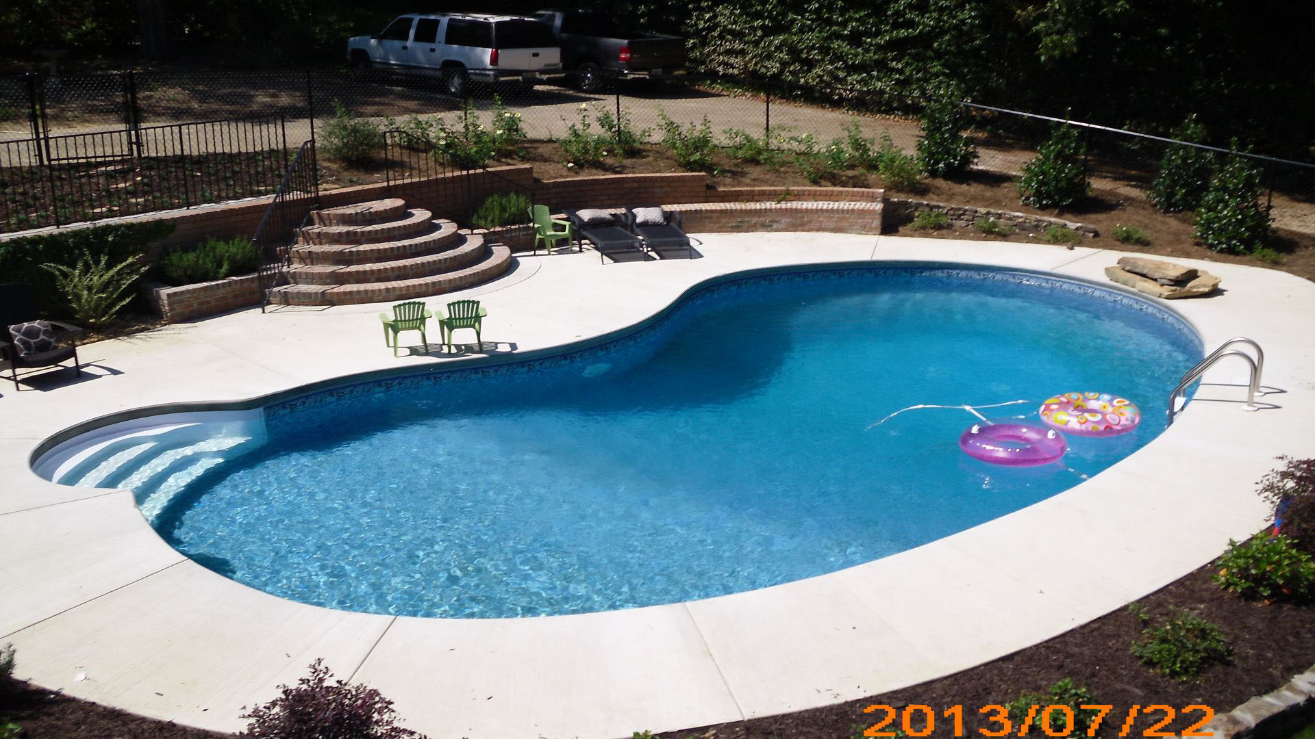 Vinyl liner pool construction columbus georgia for Pool liners
